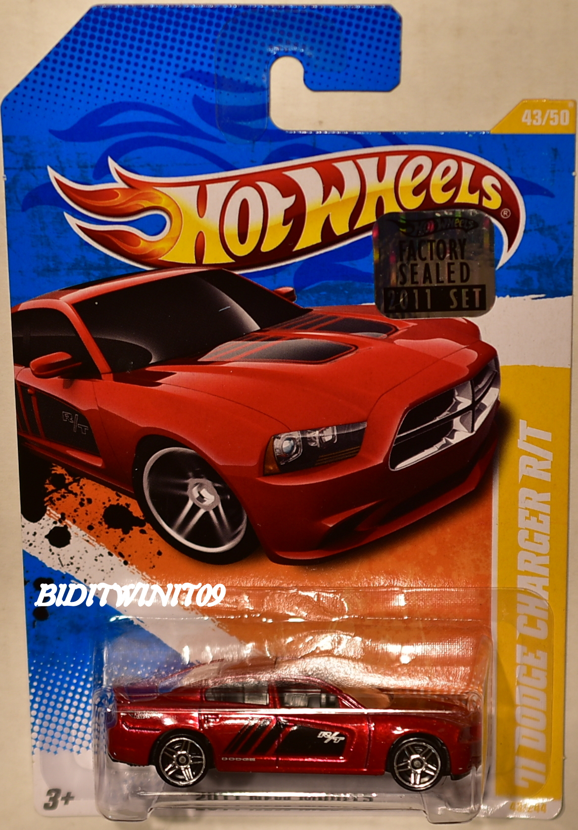 HOT WHEELS 2011 NEW MODELS '11 DODGE CHARGER R/T RED FACTORY SEALED