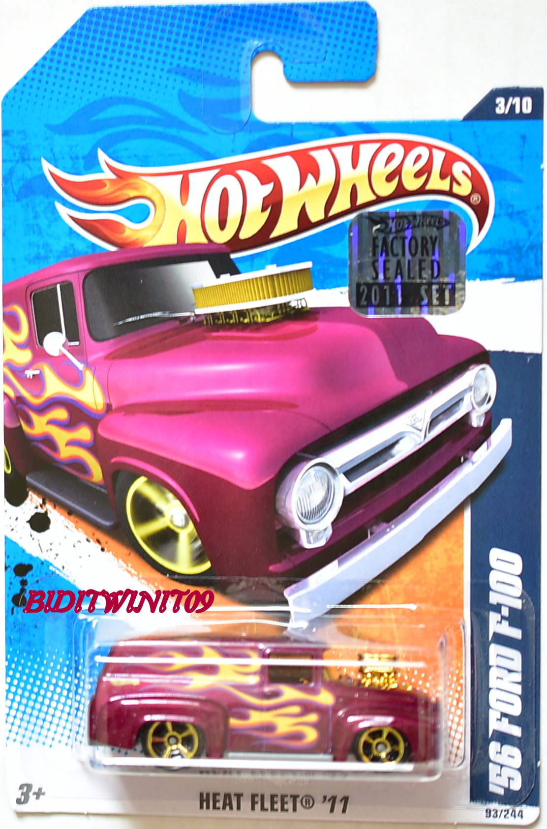 HOT WHEELS 2011 HEAT FLEET '56 FORD F-100 FACTORY SEALED