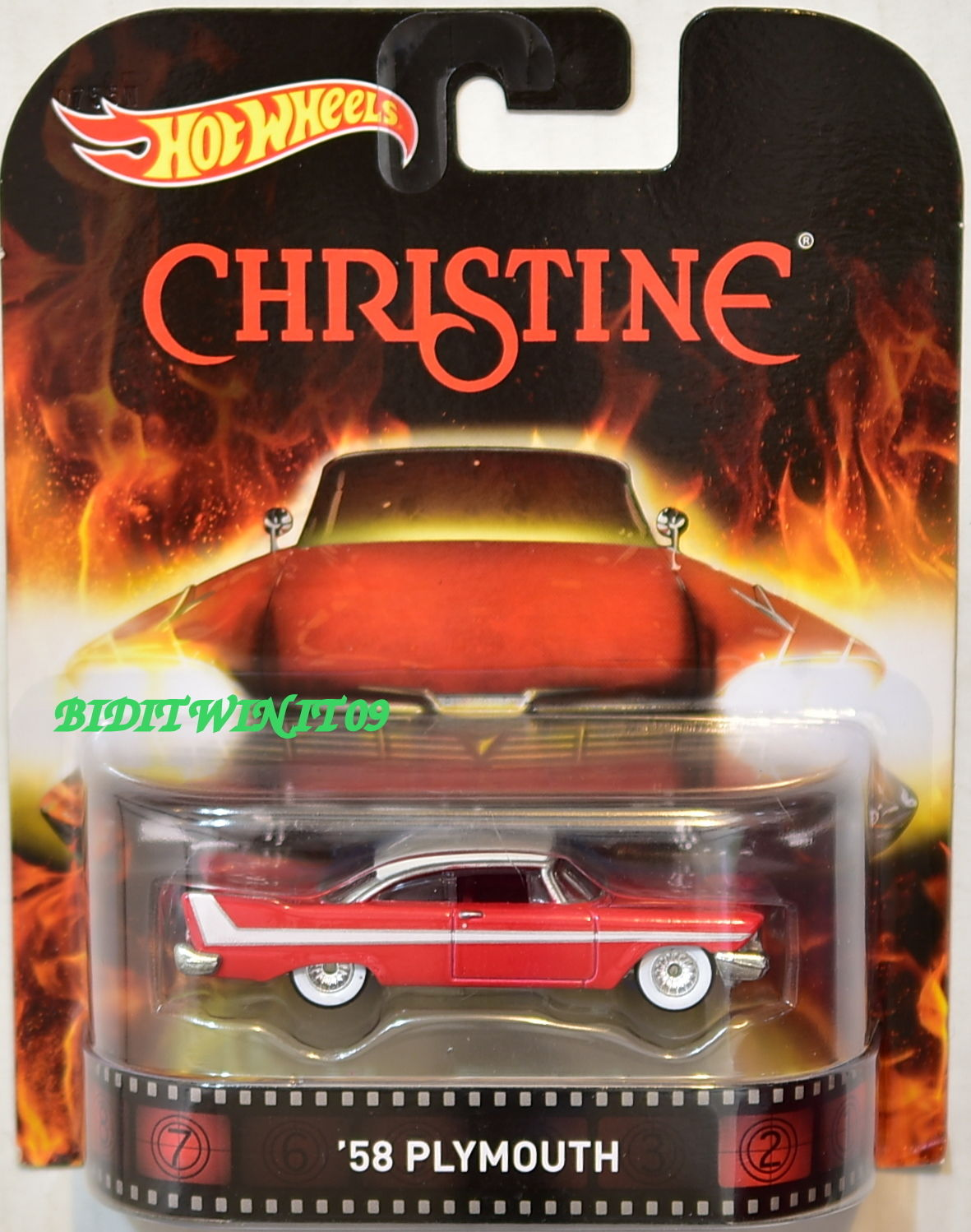 HOT WHEELS RETRO ENTERTAINMENT 2013 CHRISTINE '58 PLYMOUTH