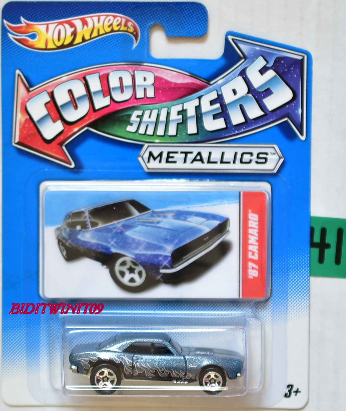 HOT WHEELS COLOR SHIFTERS METALLICS 2011 '67 CAMARO E+