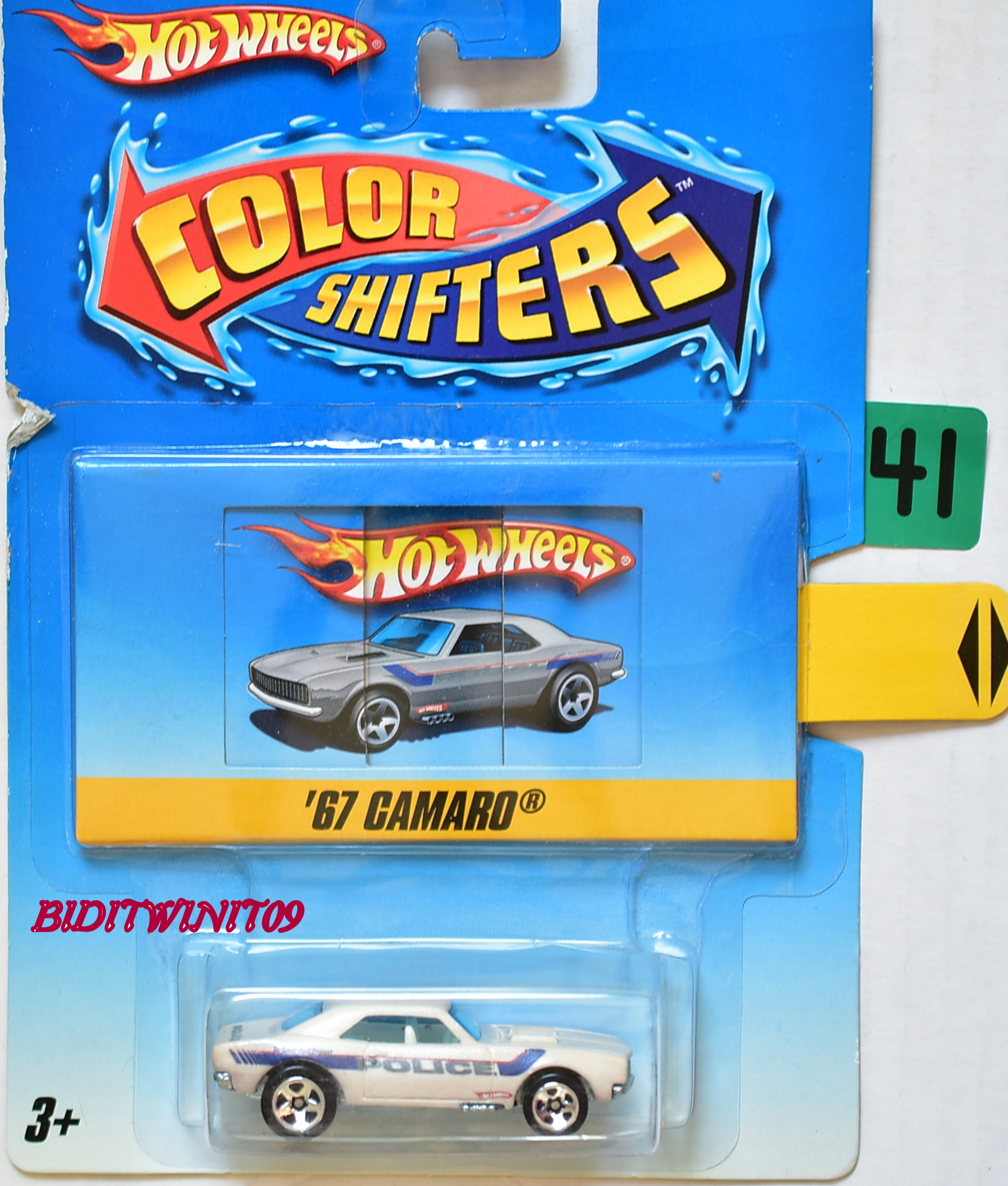 HOT WHEELS COLOR SHIFTERS 2009 '67 CAMARO POLICE