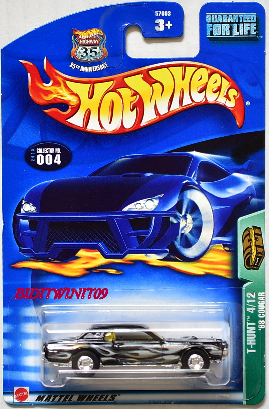 HOT WHEELS 2003 TREASURE HUNT #004 '68 COUGAR BLACK