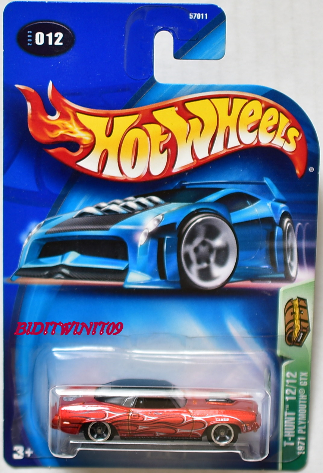 HOT WHEELS TREASURE HUNT SERIES 2003 #12/12 1971 PLYMOUTH GTX