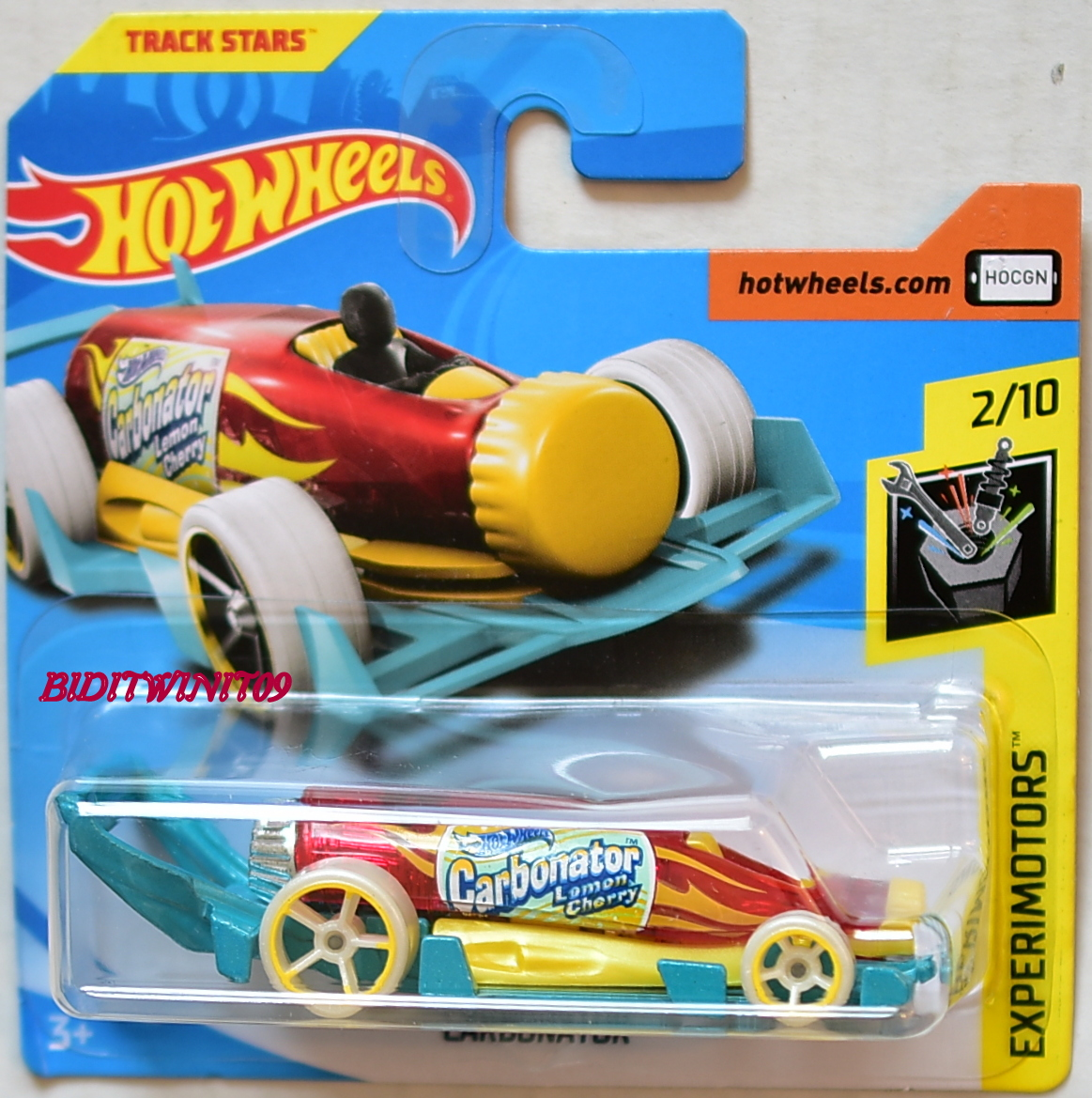 HOT WHEELS 2018 EXPERIMOTORS CARBONATOR #2/10 SHORT CARD