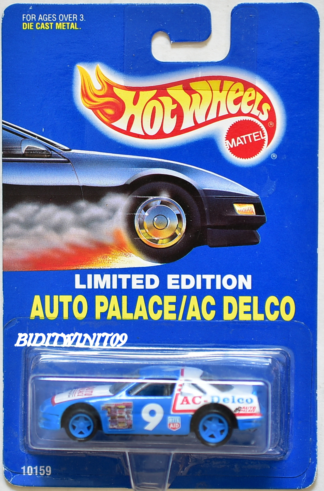 HOT WHEELS 1992 LIMITED EDITION AUTO PALACE/AC DELCO RACE CAR